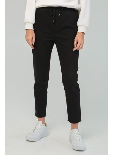 Modaset Beli Bağlamalı Jogging Pantolon  Siyah